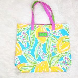 Lilly Pulitzer Large Printed Tote Bag Este Lauder